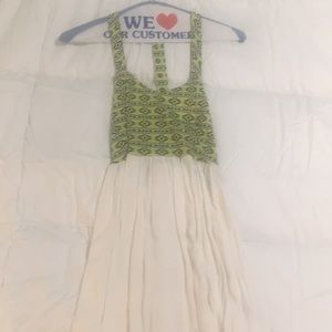 LF Millau tribal design green white dress size S